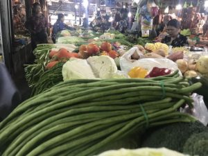 varying colorful vegetables found at old market